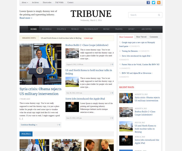 Tribune-Theme
