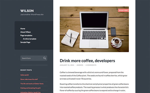 Wilson-WordPress-Theme