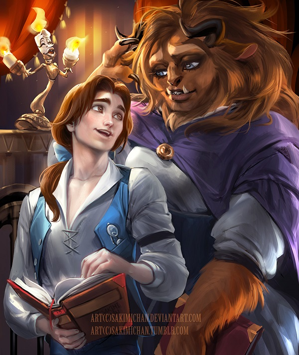 Belle and The Beast from Beauty and The Beast -Popular Cartoon Characters