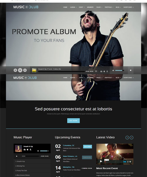 Music-Club-WP-Theme