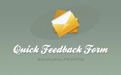 Quick-Feedback-Form-With-PHP-And-jQuery