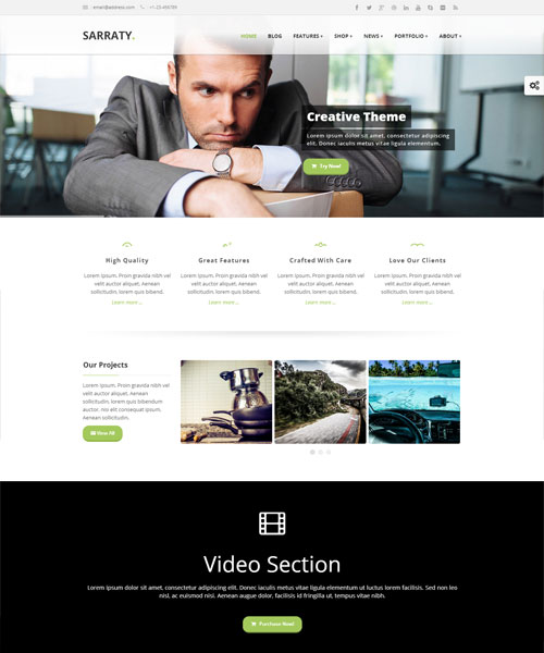 Sarraty-WordPress-site