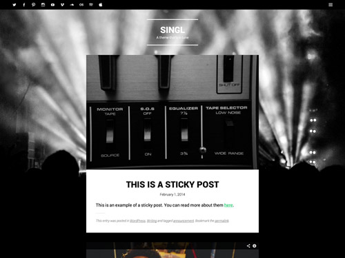 Singl free music wordpress themes