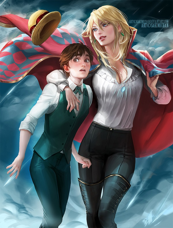 Sophie and Howl from Howl's Moving Castle-Popular Cartoon Characters