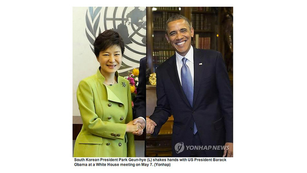 South Korea newswire image of President Park Geun-hye
