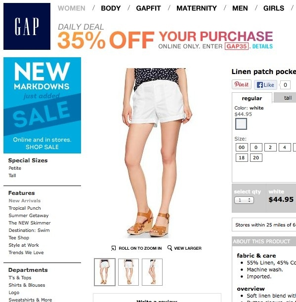 pair of Gap shorts