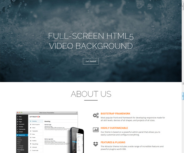 Attractor-One-Page-Parallax-Theme