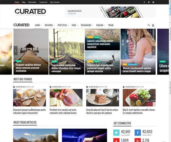 Curated-magazine-wordpress-theme