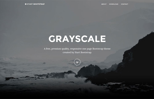 Grayscale-Full-Width-Single-Page-Template