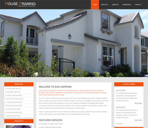 House-Framing-A-Real-Estate-Mobile-Website-Template