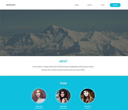 Mission-Corporate-Flat-HTML-Template