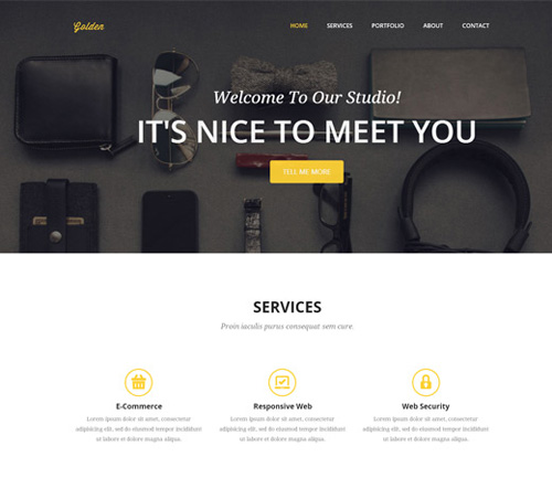 free-golden-web-template