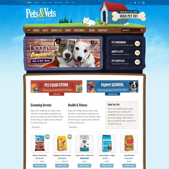 pets-vets-wordpress-woocommerce