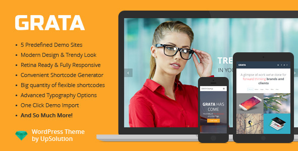 GRATA One Page WordPress Theme