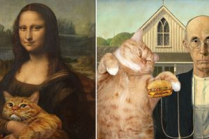 funny-fat-cat-iconic-paintings-1