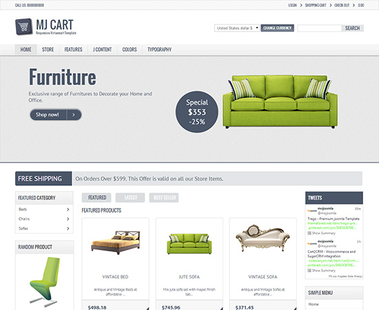 Responsive-Virtuemart-Template-mj-cart