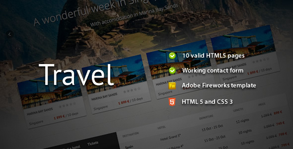 Travel Premium HTML Template
