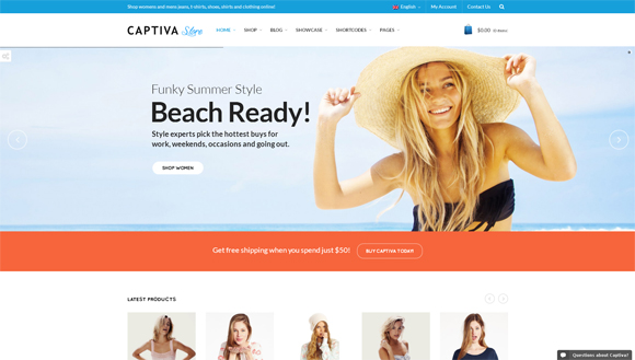 Captiva wordpress-ecommerce-themes