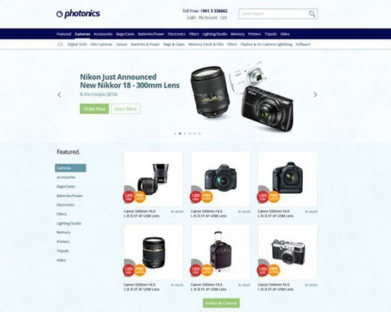 E-commerce-Camera-Store-Website-Template
