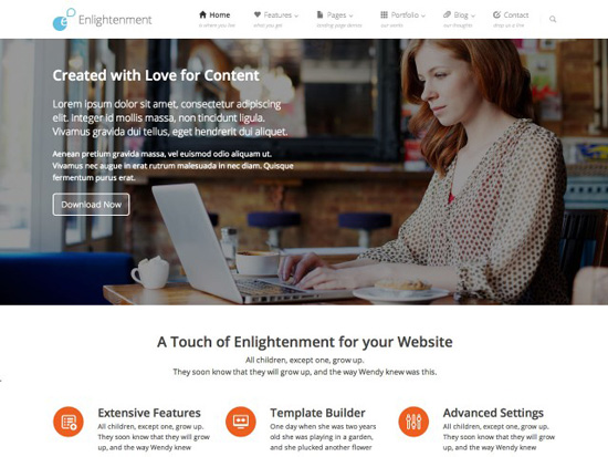 Enlightenment-Free-WP-Theme