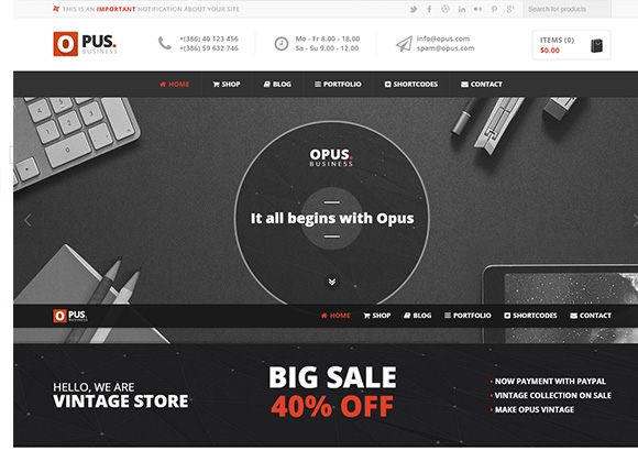 Opus-Woocommerce-Store-theme