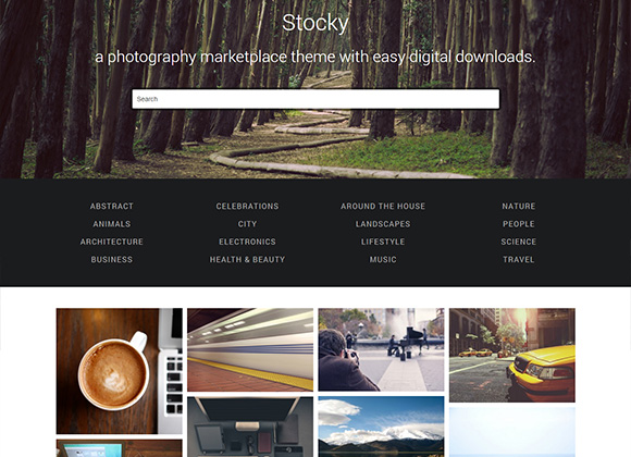 Stocky-photography-marketplace-theme