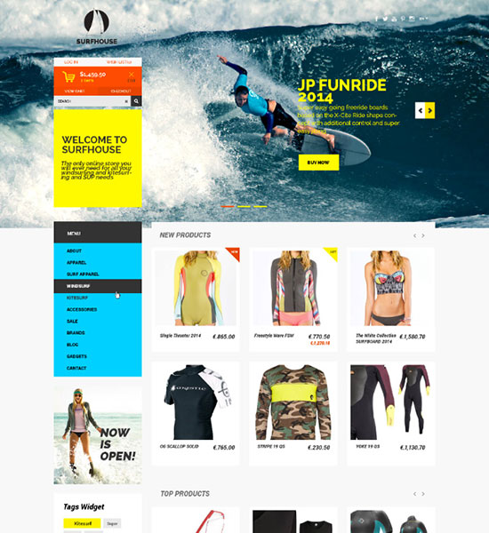 Surfhouse-Free-Psd-eCommerce-Template