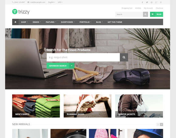 Trizzy-wordpress-ecommerce-themes
