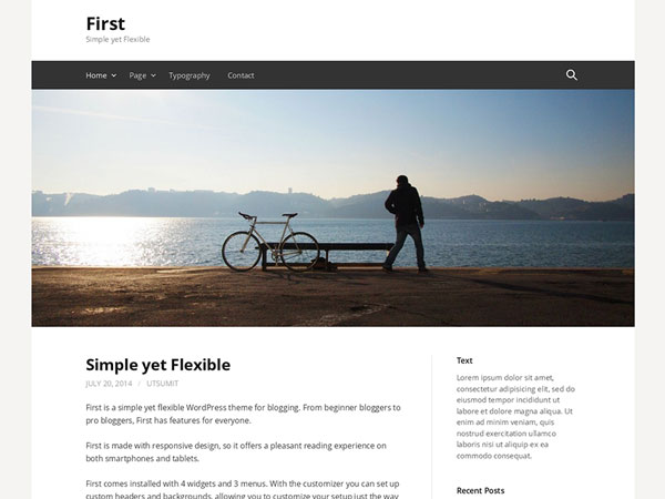First-wp-free-theme