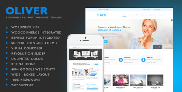 Oliver Responsive WordPress Themes