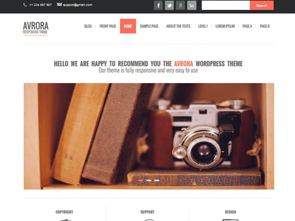 Avrora-Free-Photography-Theme