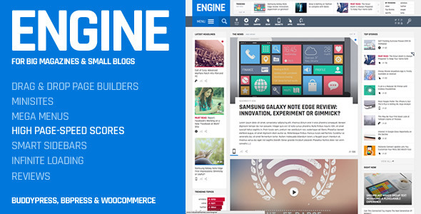 Engine Drag and Drop News Magazine Theme