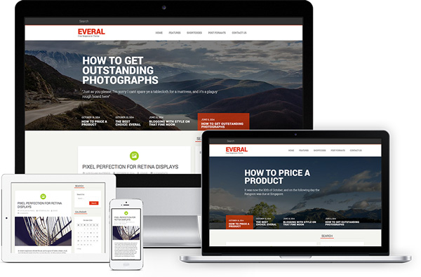 Everal-Free-Modern-WordPress-Theme