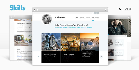 3 Skills Personal Blog WordPress Theme