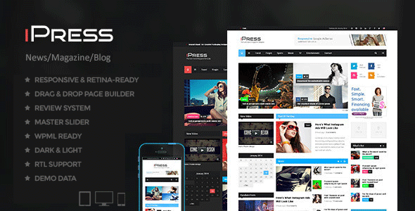 7 ipress blog theme