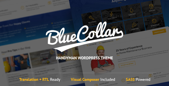 Blue Collar WordPress Theme