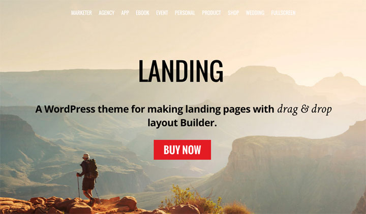 Landing One Page WordPress Theme