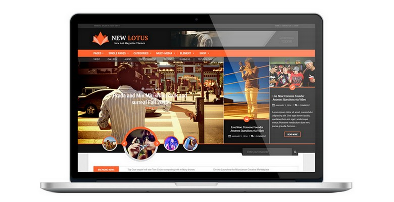 New Lotus free WordPress magazine theme