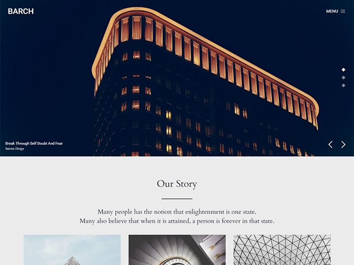 Barch architecture WordPress theme