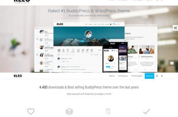 BuddyPress-WordPress-Theme--KLEO-Template