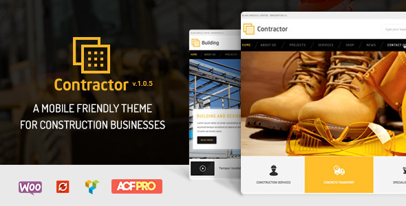 Contractor wp theme