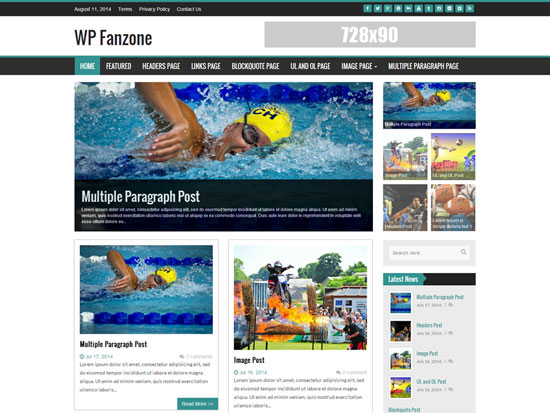 Free-Magazine-WordPress-Themes-2015-WP-FanZone