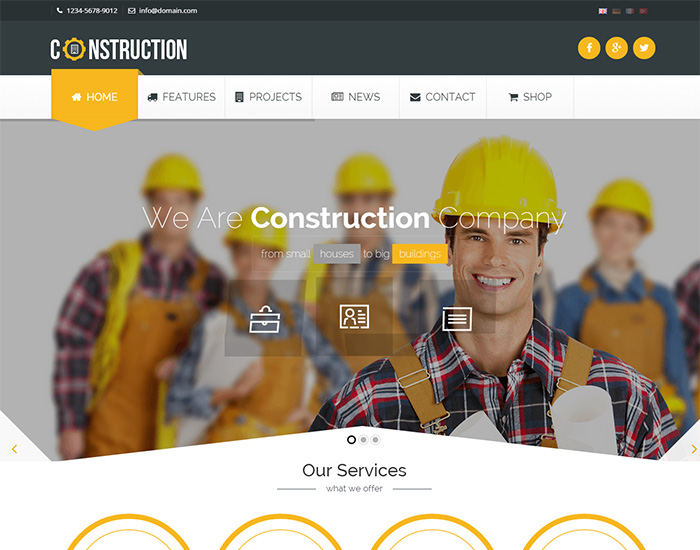 40 best construction wordpress themes 2018 for create website