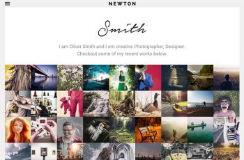 newton-responsive-creative-photography-themes-2015