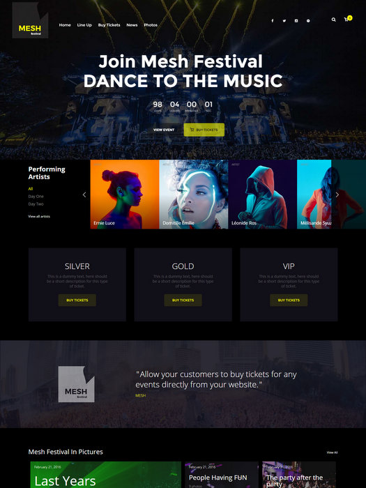mesh-club-musician-wordpress-theme