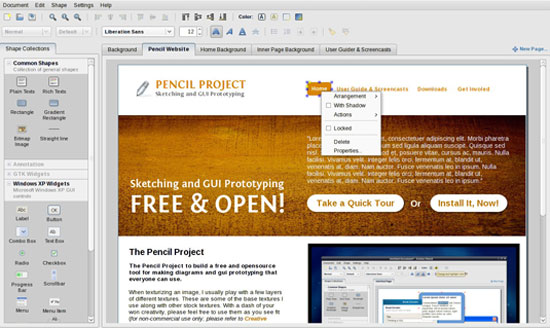 free-wireframing-tools-Pencil-Project