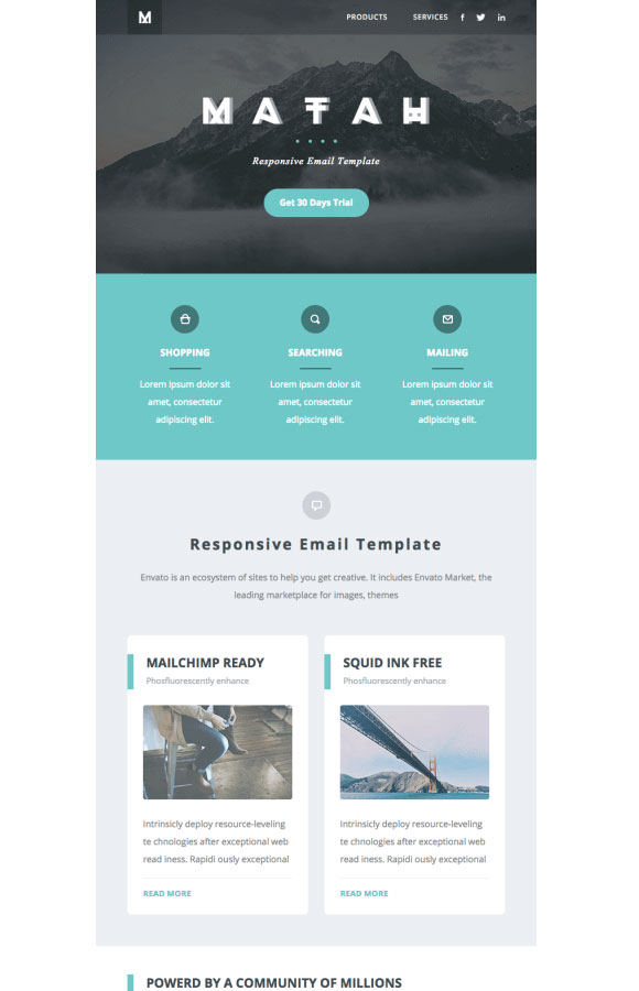 20 email newsletter examples to get new ideas for your design for Cool mailchimp templates