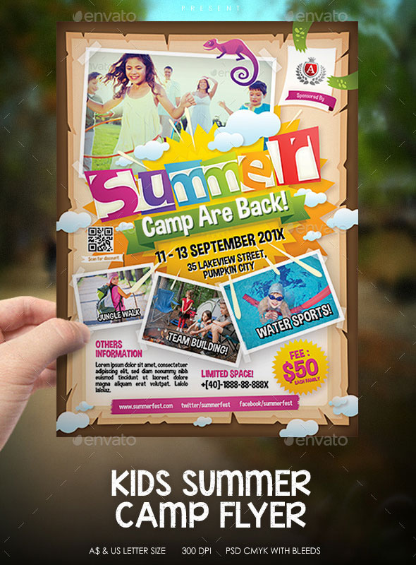 Kids Summer Camp Event Flyer
