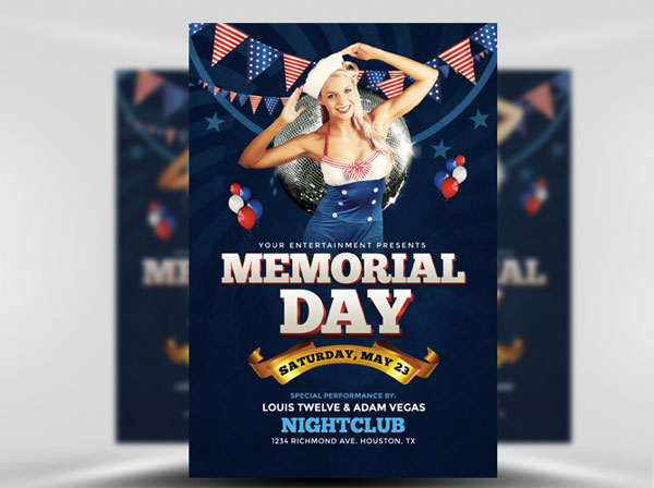 Memorial Day Weekend Flyer Template