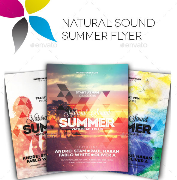 Natural Sound Summer Flyer Template